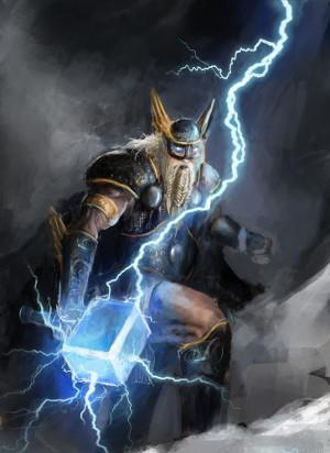 O deus Thor, filho de Odin, é uma das principais divindades dos vikings
