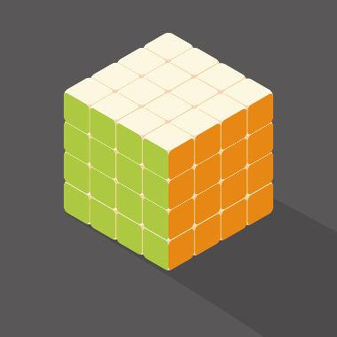 """O """"cubo mágico"""" tem forma de cubo e é formado por vários cubos menores"""