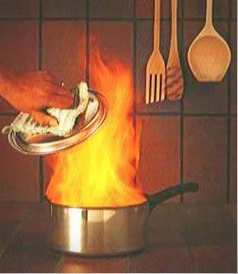 Não se desespere, nem jogue água se o óleo de cozinha pegar fogo