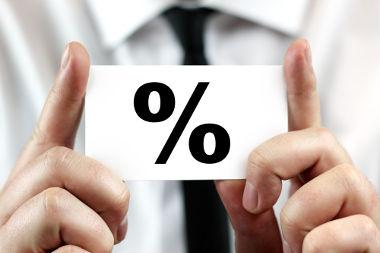 """O cálculo do índice percentual está relacionado à porcentagem e utiliza a simbologia do """"por cento"""""""