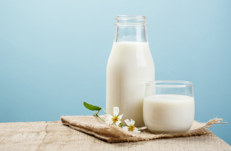Bicarbonato e leite