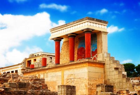 Palácio principal localizado no sítio arqueológico da cidade de Cnossos em Creta