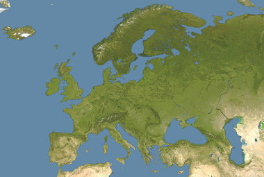 Mapa do relevo europeu
