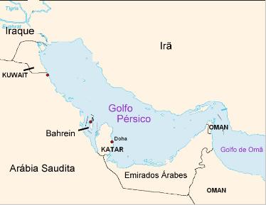 Localização do Golfo Pérsico