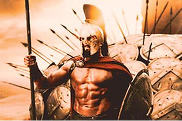 """O filme """"300"""" não pode ser visto como um retrato fiel da Grécia Antiga."""