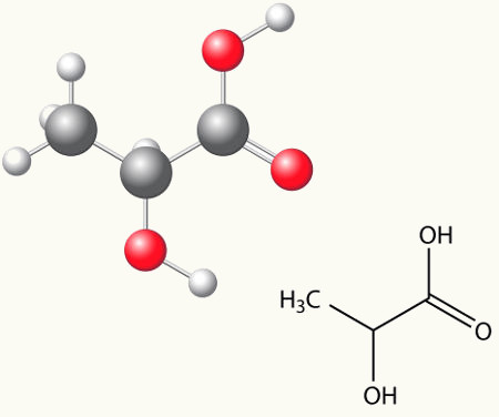 O ácido lático é uma substância que apresenta em sua estrutura um carbono quiral