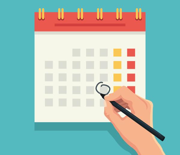 O calendário marca os dias, meses e estações do ano