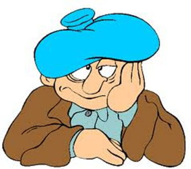 Um dos sintomas da ressaca é a forte dor de cabeça.