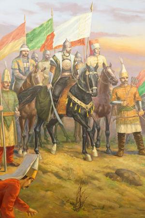 Sobre o cavalo preto, Solimão, o Magnífico, um dos principais sultões do Império Otomano