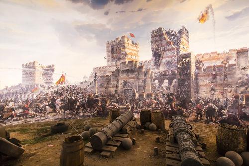 Constantinopla foi conquistada pelos turco-otomanos em 1453 *