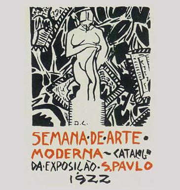 Capa do catálogo da Semana de Arte Moderna de 1922 feita por Di Cavalcanti