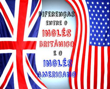 As bandeiras inglesa e estadunidense, respectivamente