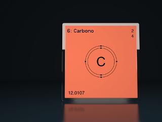 O carbono é um elemento químico presente na Tabela Periódica na família 14