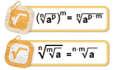 Assim como acontece com qualquer outro número, também podemos calcular a potenciação e a radiciação de radicais