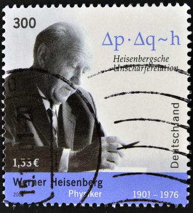Selo lançado na Alemanha no ano de 2001 em homenagem a Heisenberg *