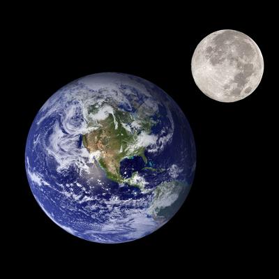 A lua permanece na órbita da Terra graças ao campo gravitacional