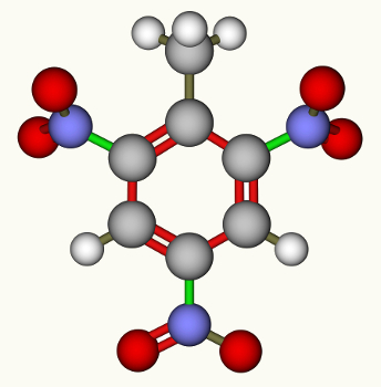 O trinitrotolueno (TNT) é originado por substituição em derivado do benzeno