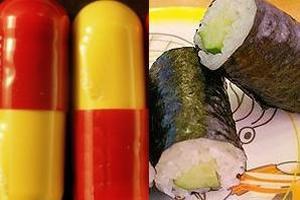 Alguns produtos que possuem algas como matéria-prima.