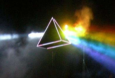 Observe o espectro que resulta da passagem da luz branca por um prisma