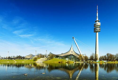 Complexo olímpico de Munique, onde se realizaram os jogos de verão de 1972