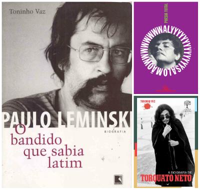Paulo Leminski, Waly Salomão e Torquato Neto estão entre os maiores representantes da Poesia Marginal brasileira *