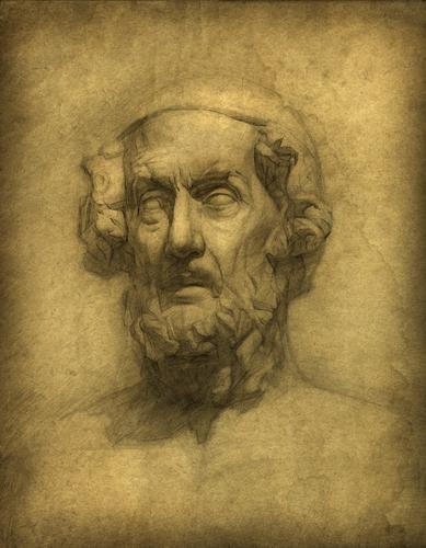 Ao poeta grego Homero é atribuída a autoria de duas obras épicas que se tornaram a principal fonte para a formação do homem grego