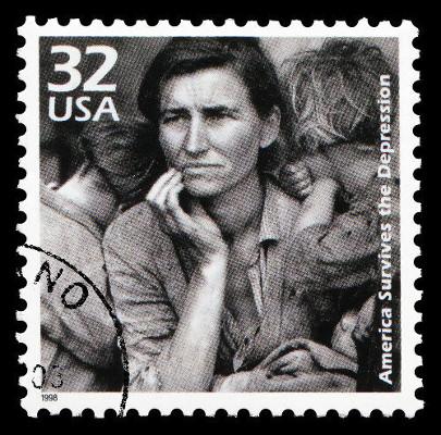 Foto tirada em 1936: Florence Owens Thompson, desempregada, cuidava sozinha de sete filhos *