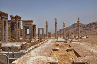 Ruínas da cidade de Persépolis, no Irã