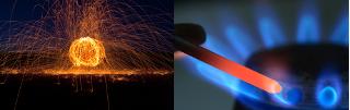 Qual queima mais rápido: a palha de aço ou o prego?