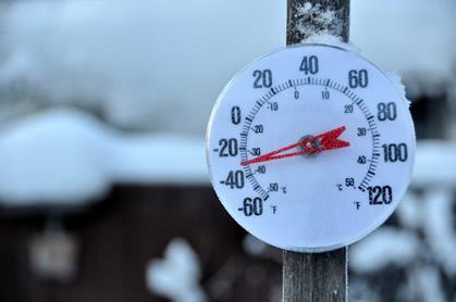 Termômetro usado para medir a temperatura ambiente