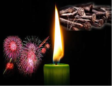 A combustão da parafina em uma vela, o enferrujamento e a combustão da pólvora nos fogos de artifício são reações que possuem diferentes velocidades