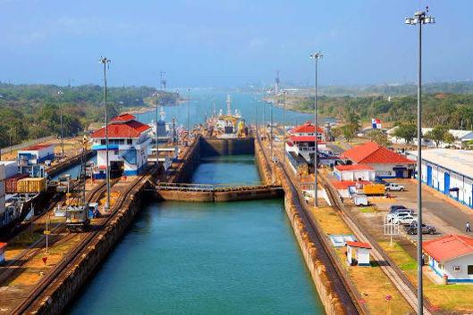 Vista do Canal do Panamá, Estação de Miraflores