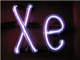 Xenônio: símbolo Xe