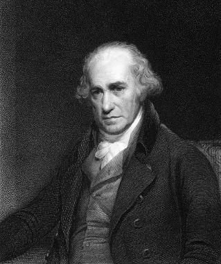 James Watt aumentou o rendimento da máquina a vapor de sua época em 75%
