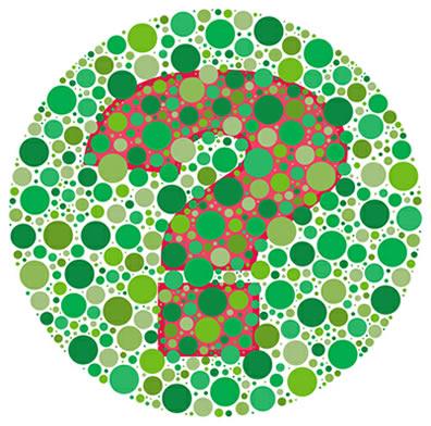 Se você consegue distinguir todas as cores do desenho, você não é uma pessoa daltônica