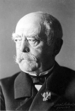 Primeiro-ministro Otto von Bismarck, principal protagonista do processo de Unificação Alemã