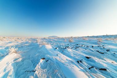 Imagem do permafrost na região do Ártico