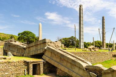 Ruínas dos obeliscos de Axum, Etiópia