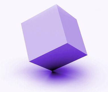 Cubo: poliedro regular formado por seis faces quadradas