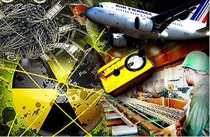 A radioatividade possui larga aplicação na indústria