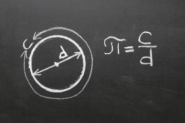Fórmula demonstra a razão entre o comprimento de uma circunferência e o seu diâmetro