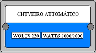 As indicações 2000 W e 2800 W indicam as potências nas posições morno e quente.
