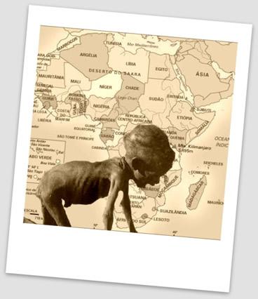 A exploração imperialista na África nos séculos XIX e XX foi o fator responsável pela atual miséria e fome existentes em diversos países africanos