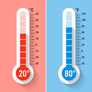 As equações usadas para obter a transformação e a variação de temperatura entre as escalas termométricas são diferentes