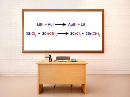 As reações de dupla troca entre sais são muito trabalhadas na forma de equações
