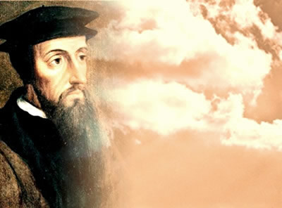 João Calvino: a ideia de que a salvação é previamente determinada por Deus.