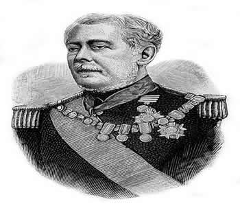 Retrato de Luís Alves de Lima e Silva, o Barão de Caxias, principal responsável pela repressão à Balaiada.*