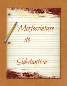 A morfossintaxe manifesta-se, também, com o substantivo, caracterizada pela análise da morfologia e da sintaxe simultaneamente