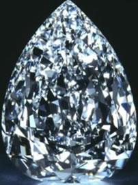 A transparência de um diamante.