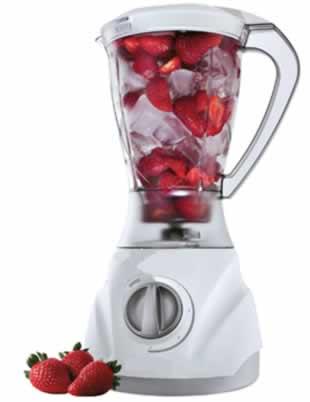 Em razão do excesso de frutas dentro do liquidificador, as lâminas cortantes podem ficar presas